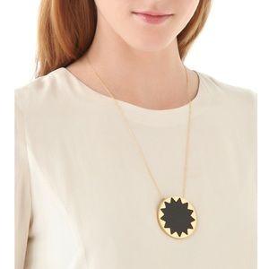 House of Harlow 1960 Black Sunburst Necklace